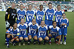Carolina Courage starting lineup at SAS Stadium in Cary, North Carolina on 7/19/03 before a game between the Carolina Courage and San Diego Spirit. Carolina won the game 1-0