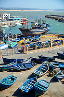 fishing boats of thye port of Essaouira, Morocco