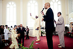 Reverend Dr. Gerald L Durley preaches health to his congregation. His congregation honored him during the service August 15, 2010 in celebration of Rev. Dr. Durley's 23rd pastoral anniversary at Providence Missionary Baptist Church.