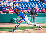 13 March 2014: New York Mets pitcher Jacob deGrom in action during a Spring Training game against the Washington Nationals at Space Coast Stadium in Viera, Florida. The Mets defeated the Nationals 7-5 in Grapefruit League play. Mandatory Credit: Ed Wolfstein Photo *** RAW (NEF) Image File Available ***
