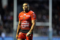 Bryan Habana of Toulon looks on during a break in play. European Rugby Champions Cup match, between RC Toulon and Bath Rugby on January 10, 2016 at the Stade Mayol in Toulon, France. Photo by: Patrick Khachfe / Onside Images