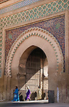 An Alaouites period gate, Morocco