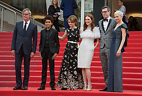 Todd Haynes, Jaden Michael, Millicent Simmonds, Julianne Moore, Brian Selznick &amp; Michelle Williams at the premiere for &quot;Wonderstruck&quot; at the 70th Festival de Cannes, Cannes, France. 18 May  2017<br /> Picture: Paul Smith/Featureflash/SilverHub 0208 004 5359 sales@silverhubmedia.com