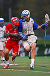May 1, 2009:    #22 Matt Kawamoto of Ohio State and #11 Ridge Flick of Air Force in action during the NCAA Lacrosse game between Air Force and Ohio State at GWLL Tournament in Birmingham, Michigan. Ohio State defeated Air Force 10-5.  (Credit Image: Rick Osentoski/Cal Sport Media)