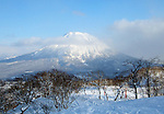 Photo shows a view of Mt. Yotei in the Niseko ski region of Hokkaido, Japan on Feb. 5 2010.