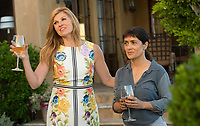 Beatriz at Dinner (2017) <br /> Connie Britton, Salma Hayek<br /> *Filmstill - Editorial Use Only*<br /> CAP/FB<br /> Image supplied by Capital Pictures