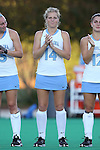 17 October 2014: North Carolina's Emma Bozek. The Duke University Blue Devils hosted the University of North Carolina Tar Heels at Jack Katz Stadium in Durham, North Carolina in a 2014 NCAA Division I Field Hockey match. UNC won the game 1-0.