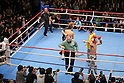 (L to R) Suriyan Sor Rungvisai (THA), Yota Sato (JPN), March 27, 2012, 2011 - Boxing : Yota Sato of Japan in action against  Suriyan Sor Rungvisai of Thailand during the WBC super fly weight title bout at korakuen hall in Tokyo, Japan. Yota Sato won the fight on points after twelve rounds. (Photo by Yusuke Nakanishi/AFLO) [1090]