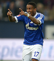 FUSSBALL   1. BUNDESLIGA   SAISON 2013/2014   12. SPIELTAG FC Schalke 04 - SV Werder Bremen                           09.11.2013 Jefferson Farfan, (FC Schalke 04) jubelt nach dem Tor zum 3:1.