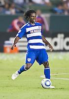 CARSON, CA – August 6, 2011: FC Dallas defender Ugo Ihemelu (3) during the match between LA Galaxy and FC Dallas at the Home Depot Center in Carson, California. Final score LA Galaxy 3, FC Dallas 1.