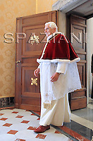 Benedict XVI Macedonia's President Branko Crvenkovski,private audience at the Vatican.Jan.23,2009