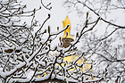 Mar.12, 2014; Golden Dome after snow storm. Photo by Barbara Johnston/University of Notre Dame
