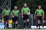19 August 2016: Match officials. From left: Assistant Referee Ray Thomas, Fourth Official Josh Nagelberg, Referee Jude Carr, and Assistant Referee Dusty Becker. The Duke University Blue Devils played the Wofford College Terriers in a 2016 NCAA Division I Women's Soccer match. Duke won the game 9-1.