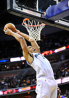 JaVale McGee of the Wizards elevates for  a dunk. Los Angeles defeated Washington 103-89 at the Verizon Center in Washington, DC on Tuesday, December 14, 2010. Alan P. Santos/DC Sports Box