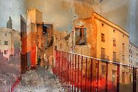 L'Espanya incendiada<br /> <br /> Ens allunyem del riu i dels passeigs,<br /> deixem enrere les places i el brogit,<br /> el ritme quotidi&agrave; dels gestos endre&ccedil;ats.<br />  <br /> Pugem cap al passat,<br /> cap a les restes venerables d&rsquo;un m&oacute;n que ens precedeix,<br /> amb els ulls fits als cimalls dels xiprers<br /> petjades resseguint altres petjades,<br /> cap a uns carrers que habiten les abs&egrave;ncies,<br /> cap a una solitud de terra humil i encesa,<br /> on els carrers, desordenant-se, es fan camins,<br /> de les runes de cases que agonitzen.<br />  <br /> Travessem l&rsquo;arrebossat de les fa&ccedil;anes<br /> per retrobar la nuesa de la pedra.<br />  <br /> Desfem els passos de la hist&ograve;ria,<br /> avancem cap al blau<br /> duent a la mirada el pes de tantes ombres.<br /> <br /> Carles Duarte i Monserrat<br /> <br /> <br /> L&rsquo;Espagne incendi&eacute;e<br /> <br /> Nous nous &eacute;loignons de la rivi&egrave;re et des promenades,<br /> derri&egrave;re nous les places et leur rumeur,<br /> le rythme quotidien des gestes ordonn&eacute;s.<br /> <br /> Nous remontons vers le pass&eacute;,<br /> vers les restes v&eacute;n&eacute;rables d&rsquo;un monde qui nous pr&eacute;c&egrave;de,<br /> les yeux fix&eacute;s sur la cime des cypr&egrave;s<br /> nos pas dans les traces d&rsquo;autres pas,<br /> vers des rues habit&eacute;es par les absences,<br /> vers une solitude de terre humble et enflamm&eacute;e,<br /> o&ugrave; les rues, d&eacute;sordonn&eacute;es, se frayent des chemins<br /> entre les ruines des maisons qui agonisent.<br /> <br /> Nous traversons le cr&eacute;pi des fa&ccedil;ades<br /> pour retrouver la nudit&eacute; de la pierre.<br /> <br /> Nous d&eacute;faisons les pas de l&rsquo;histoire,<br /> nous avan&ccedil;ons vers le bleu<br /> portant dans le regard le poids de tant d&rsquo;ombres.
