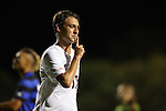 11 September 2015: Virginia's Jake Rozhansky celebrates his goal. The Duke University Blue Devils hosted the University of Virginia Cavaliers at Koskinen Stadium in Durham, NC in a 2015 NCAA Division I Men's Soccer match. The game ended in a 2-2 tie after overtime.