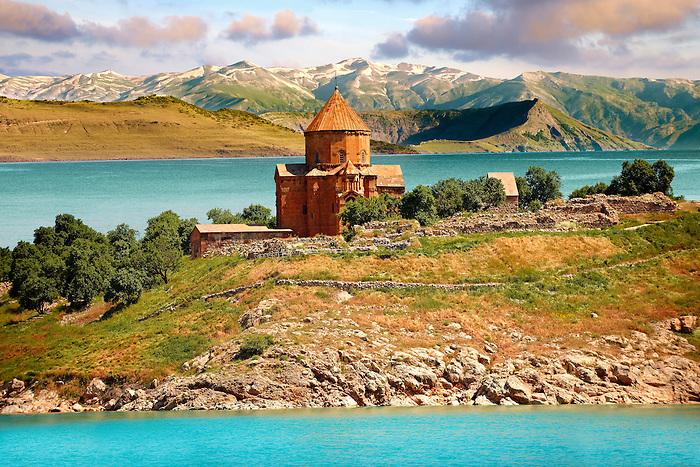10th century Armenian Orthodox Cathedral of the Holy Cross on Akdamar Island, Lake Van Turkey 83