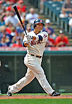 14 September 2008: Cleveland Indians' outfielder Shin-Soo Choo in action against the Kansas City Royals at Progressive Field in Cleveland, Ohio. The Royal defeated the Indians 13-3 to take the 4-game series three games to one...Mandatory Photo Credit: Ed Wolfstein Photo