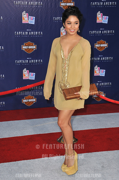 """Vanessa Hudgens at the premiere of """"Captain America: The First Avenger"""" at the El Capitan Theatre, Hollywood..July 19, 2011  Los Angeles, CA.Picture: Paul Smith / Featureflash"""