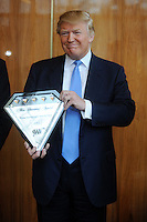 Donald Trump is awarded the AAA Five-Diamond Award for his Trump International Hotel & Tower in New York City. March 31, 2011 Credit: Dennis Van Tine/MediaPunch