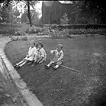Point Breeze:  Brady Jr, Helen and friend playing in front of their grandparent's house in the Point Breeze section of Pittsburgh.The Homer and Alice Stewart lived at 6705 Thomas Street in Point Breeze.
