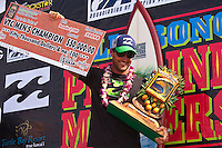 """PIPELINE, Oahu/Hawaii (Tuesday, December 15, 2009) - Taj Burrow (AUS), 31, has claimed the 2009 Billabong Pipe Masters, defeating fellow Finalist Kelly Slater (USA), 37, in clean three-to-five foot (1 - 1.5 metre) waves at the Banzai Pipeline...The final event of the 2009 ASP World Tour season, the Billabong Pipe Masters culminated the Vans Triple Crown (an ASP Specialty Series), and provided non-stop, high-caliber action from the outset...Burrow wasted little time in putting Slater on the ropes in the 35-minute Final, racking up a 7.00 out of a possible 10 on his opening ride for an electric air reverse followed by some solid forehand maneuvers. With deteriorating conditions, Burrow stayed busy before collecting a 5.83 for an incredible full-rotation alley-oop, putting the pressure on Slater as time ran out...""""There were perfect backdoor waves this whole event and then for the Final it went onshore,"""" Burrow said. """"It was strictly turns. It was all about turns and hopefully doing a few airs and I ped down to my shortboard and my plan was to just to let loose. It was tough because I knew Kelly (Slater) could do anything. Even when there was 20 seconds to go and I had priority, I was still scared. I just had nothing to lose and tried to let loose.""""..Today's victory mark's Burrow's first ASP World Tour win since 2007 and his first-ever win at the infamous Banzai Pipeline..Joel Parkinson (AUS), 28, was in the running for the 2009 ASP World Title before bowing out of the Billabong Pipe Masters in Round 3 of competition. Although Gold Coast stable mate Mick Fanning (AUS), 28, claimed the 2009 ASP World Title, Parkinson's efforts throughout the Vans Triple Crown (an ASP Specialty Series) saw the talented natural-footer awarded with his second consecutive Vans Triple Crown Title as well as a bonus $50,000 from the Vans Triple Threat prize pool...""""This is my consolation prize to this year's ASP World Title,"""" Parkinson said. """"To me, the Triple Crown is the next best thing to"""
