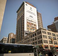 A billboard in New York promotes Google smartphones, the Pixel, available on Verizon, seen on Friday, April 28, 2017. (© Richard B. Levine)