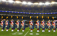 Notre Dame's Irish guard at Yankee Stadium after the Notre Dame vs. Army football game on Saturday, November 20, 2010. Photo by Errol Anderson