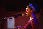 Adrianna Mauzy performs spoken word during the Creative Arts as Activism: Open Mic Night at Casa Nueva on Jan. 19, 2017.