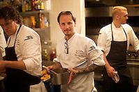 NEW YORK, NY - AUGUST 8, 2013: Chef Ian Kapitan, Executive Chef of The Precinct in Cincinnati. CREDIT: Clay Williams for the James Beard Foundation.<br /> <br /> <br /> &copy; Clay Williams / http://claywilliamsphoto.com