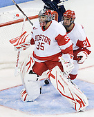 Grant Rollheiser (BU - 35), Sean Escobedo (BU - 21) - The Boston University Terriers defeated the visiting University of Toronto Varsity Blues 9-3 on Saturday, October 2, 2010, at Agganis Arena in Boston, MA.