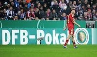 Fussball DFB Pokal:  Saison   2011/2012  2. Runde  26.10.2011 FC Bayern Muenchen - FC Ingolstadt 04 Thomas Mueller (FC Bayern Muenchen) vor einer DFB POKAL WERBEBANDE