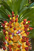 Pineapple fruit salad tree at luau