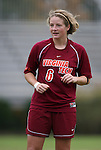 25 October 2009: Virginia Tech's Kelly Lynch. The Duke University Blue Devils defeated the Virginia Tech Hokies 4-1 at Koskinen Stadium in Durham, North Carolina in an NCAA Division I Women's college soccer game.