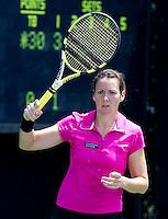 Sarah BORWELL (GBR) & Raquel KOPS-JONES (USA) against Kim CLIJSTERS (BEL) & Kirsten FLIPKENS (BEL). Clijsters and Flipkens beat Borwell and  Kops-Jones 7-6 6-4..International Tennis - 2010 ATP World Tour - Sony Ericsson Open - Crandon Park Tennis Center - Key Biscayne - Miami - Florida - USA - Thur 25th Mar 2010..© CameraSport - 43 Linden Ave. Countesthorpe. Leicester. England. LE8 5PG - Tel: +44 (0) 116 277 4147 - admin@camerasport.com - www.camerasport.com