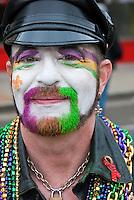 LA Pride 2011 Male, Participant, Rainbow Color,  Beard, Black Hat