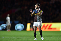 Danny Care of Harlequins rallies his team-mates during a break in play. Aviva Premiership match, between Harlequins and Exeter Chiefs on April 14, 2017 at the Twickenham Stoop in London, England. Photo by: Patrick Khachfe / JMP