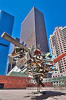 Bunker Hill, Financial district, California Plaza,  Downtown, Los Angeles, CA,  Architectural, Buildings, Nancy Rubins Sculpture, MOCA, American, European, contemporary art,