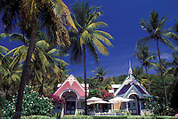 Gingerbread Houses, Mustique, The Grenadines, Caribbean