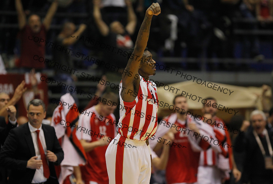 Kosarka Euroleague season 2015-2016<br /> Euroleague <br /> Crvena Zvezda v Real Madrid<br /> Quincy Miller celebrates<br /> Beograd, 27.11.2015.<br /> foto: Srdjan Stevanovic/Starsportphoto &copy;