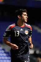 Austin da Luz (13) of the New York Red Bulls during practice on Media Day at Red Bull Arena in Harrison, NJ, on March 15, 2011.