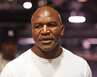 HOLLYWOOD FL - MAY 09: Evander Holyfield attends a press conference for the fight on June 3rd Briggs Vs Oquendo at Hard Rock Live held at the Seminole Hard Rock Hotel & Casino on May 9, 2017 in Hollywood, Florida. Credit: mpi04/MediaPunch