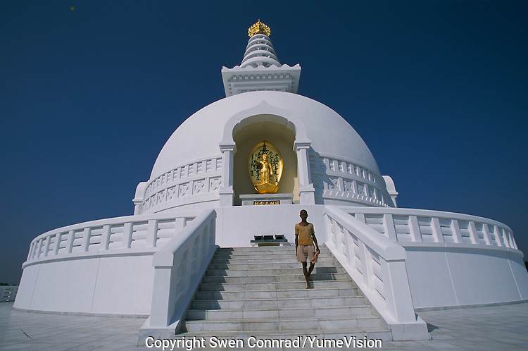Stupa build by private donators in Lumbini Nepal, marks the birth place of Siddhartha Gautam Buddha..In 1976, the Nepalese Government and UNESCO designated Lumbini as a world heritage site..-The full text reportage is available on request in Word format