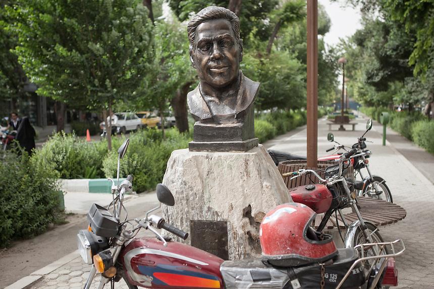 Statue at Chahar Bagh Abbasi street  in Isfahan.