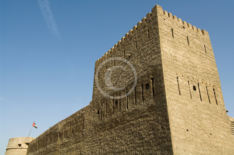 United Arab Emirates, Dubai, Traditional wind tower, Bastakiya Quarter, restored historic site