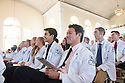 Cheng-Wei Huang, center, Suleiman Ismael, to the left. Class of 2016 White Coat Ceremony.