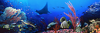 Underwater Panorama'<br /> Sureal, high res. file created for advertising with multi images