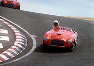 August 26th 1984, Laguna Seca Raceway, CA. 1954 Ferrari 375+ Type Le Mans.949 Ferrari 177 MM Touring Barchetta.