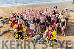 Getting ready for the annual Christmas Day swim, ,members of Tralee Bay Swimming club Launch the Swim in aid of Fenit RNLI on Sunday