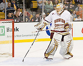 John Muse (BC - 1) - The Boston College Eagles defeated the Northeastern University Huskies 5-4 in their Hockey East Semi-Final on Friday, March 18, 2011, at TD Garden in Boston, Massachusetts.
